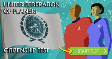 The UNITED FEDERATION OF PLANETS Citizenship Test