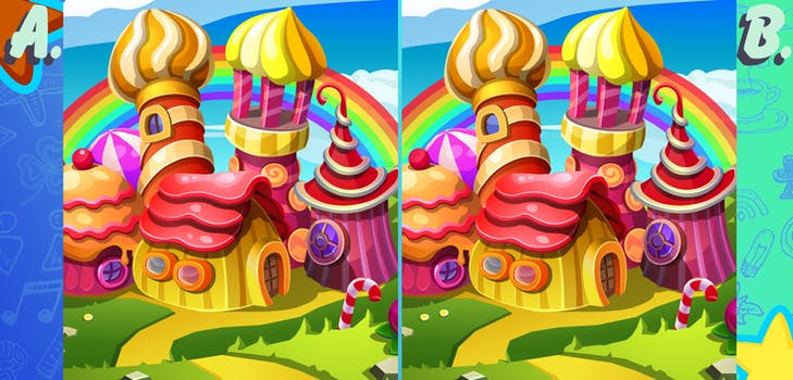 Q 7. Take a close look here! How many differences between the two images are there?