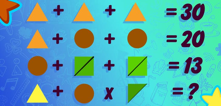 Q 1. Here we go! Think you can work out this math puzzle?